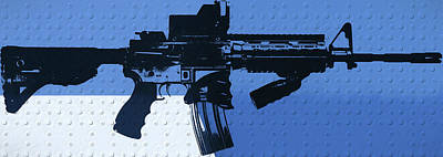 Ar 15 Pop Art Metal Panels Poster