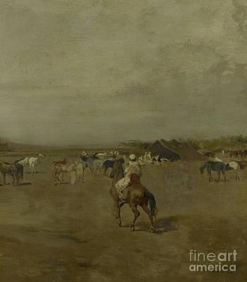 Arabian Encampment Poster by Eugene Fromentin