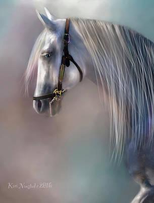 Poster featuring the digital art Arabian Grey by Kari Nanstad
