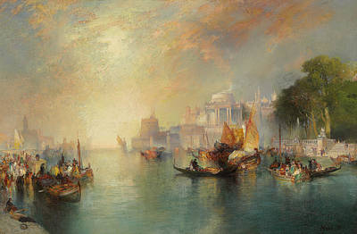 Arabian Nights Fantasy Poster by Thomas Moran