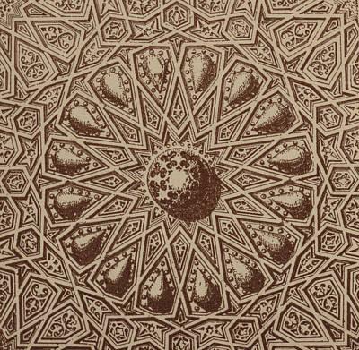 Arabian Textile Pattern Poster