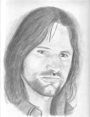 Aragorn Poster by Amy Jones