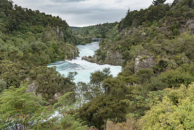 Poster featuring the photograph Aratiatia Rapids by Gary Eason