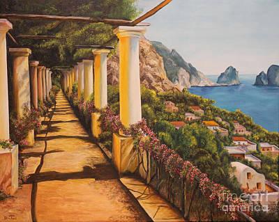 Arbor Walk In Capri Poster