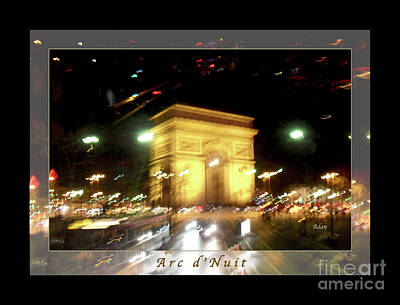 Arc De Triomphe By Bus Tour Greeting Card Poster V1 Poster by Felipe Adan Lerma