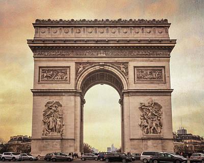 Arc De Triomphe Paris II Poster by Joan Carroll