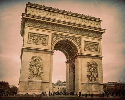Arc De Triomphe Paris Poster by Joan Carroll