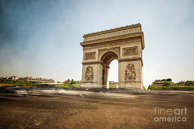 Poster featuring the photograph Arc De Triumph by Hannes Cmarits