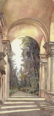 Arcate Prospettiche Poster by Guido Borelli
