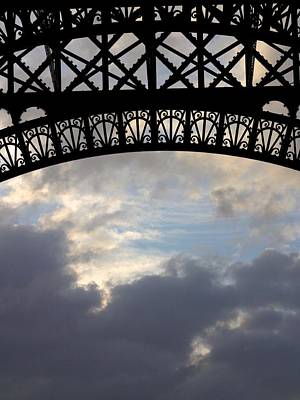 Poster featuring the photograph Arch At The Eiffel Tower by Heidi Hermes