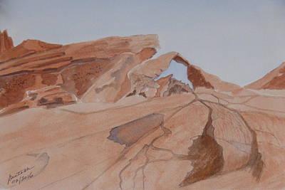 Arch Rock - A Watercolor Sketch Poster by Joel Deutsch