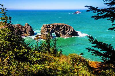 Arch Rock Oregon Coast Poster by Garry Gay