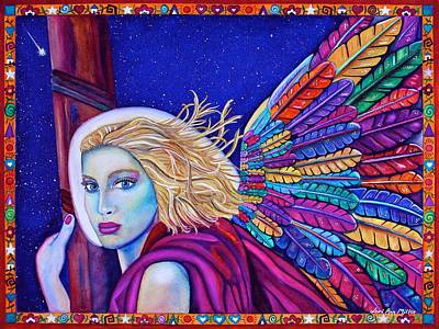 Poster featuring the painting Archangel Ariel by Lori Miller