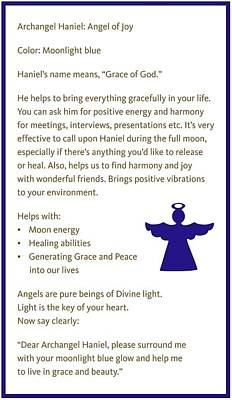 Archangel Haniel Poster