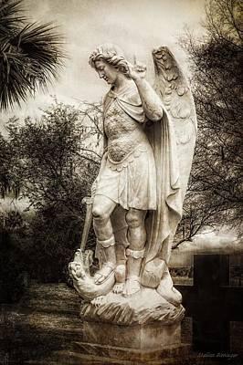 Archangel Michael Slaying Dragon Poster