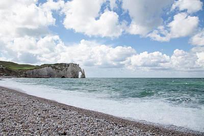 Arch At Etretat Beach, Normandie Poster