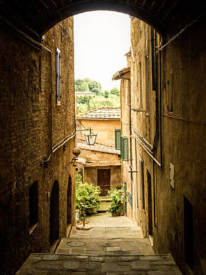 Arched Alley Poster