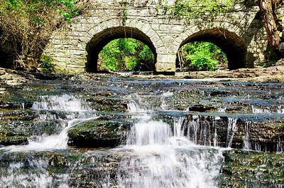 Arches And White Water Poster by Rebecca Higgins