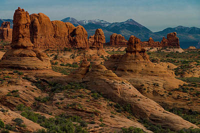Poster featuring the photograph Arches National Park by Gary Lengyel