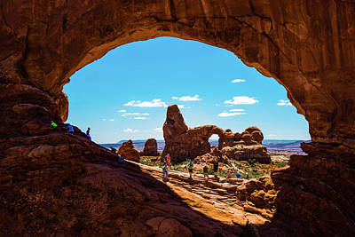 Poster featuring the photograph Arches National Park - North Window - Moab Utah Usa by Gregory Ballos