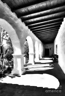 Arches Of Southern California Bw Poster