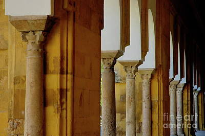 Arches Of The Patio De Los Naranjos In The Cathedral Of Cordoba Poster by Sami Sarkis