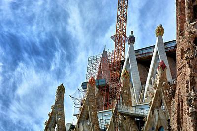 Architectural Details Of The Sagrada Familia Poster