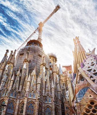Architectural Details Of The Sagrada Familia In Barcelona Poster