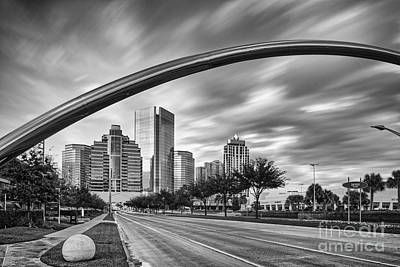 Architectural Photograph Of Post Oak Boulevard At Uptown Houston - Texas Poster by Silvio Ligutti