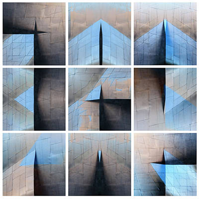 Architectural Reflections Nine-print Panel Poster by Carol Leigh