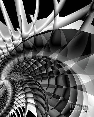 Architecture 101 Fractal Structure, Black, White Poster by Tina Lavoie