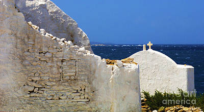 Poster featuring the photograph Architecture Mykonos Greece 2 by Bob Christopher