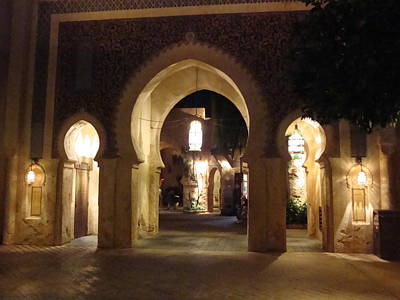 Archways At Night Poster