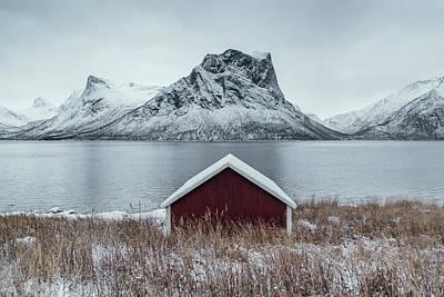 Arctic Landscape In Northern Norway, Senja Poster by Aldona Pivoriene