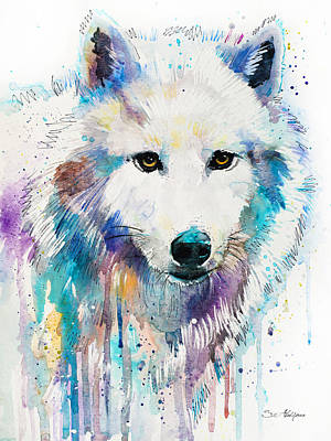 Arctic Wolf  Poster by Slavi Aladjova