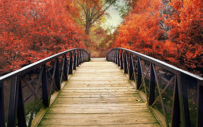 Poster featuring the photograph Ardent Autumn by Jessica Jenney