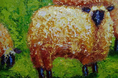 Poster featuring the painting Aren't Ewe Cute by Marie Hamby