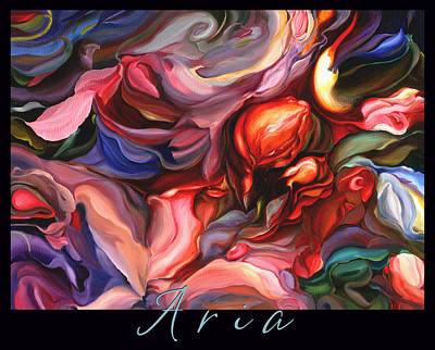 Aria - Original Acrylic Painting With Added Border-title Poster