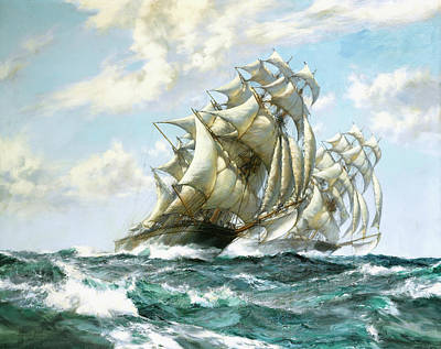 Ariel And Taeping Poster by Montague Dawson