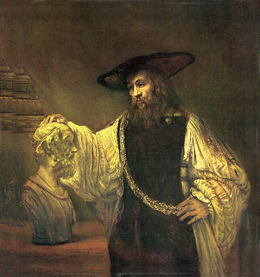 Aristotle Contemplating The Bust Of Homer Poster by Rembrandt