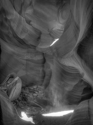 Arizona - Antelope Canyon 027 Bw Poster by Lance Vaughn
