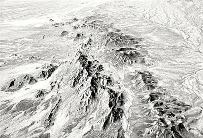 Arizona Desert In Black And White Poster