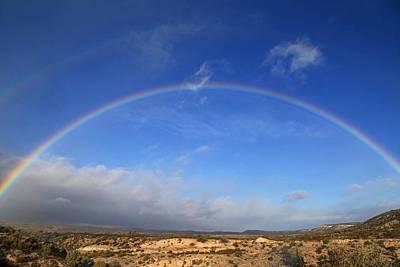 Arizona Desert Rainbow Poster