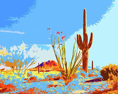 Arizona Landscape Poster by Jerome Stumphauzer