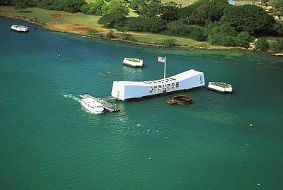 Arizona Memorial From Above Poster by Peter French - Printscapes