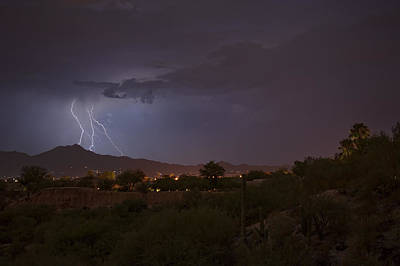 Poster featuring the photograph Arizona Monsoon Lightning by Dan McManus