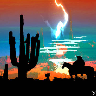 Poster featuring the photograph Arizona Skies by Ken Walker