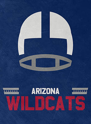 Arizona Wildcats Vintage Football Art Poster
