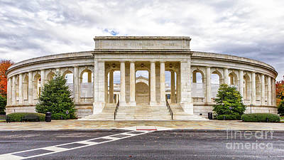 Arlington Memorial Amphitheater Poster by Jerry Fornarotto