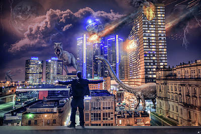 Poster featuring the photograph Armageddon Detroit by Nicholas Grunas